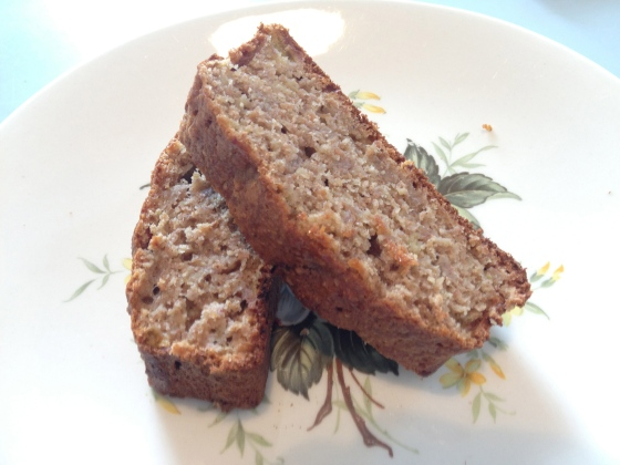 Sliced banana loaf